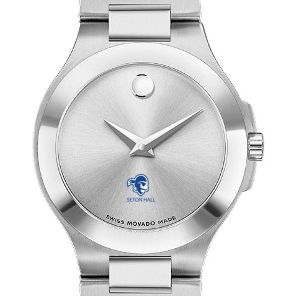 Seton Hall Women's Movado Collection Stainless Steel Watch with Silver Dial - Image 1