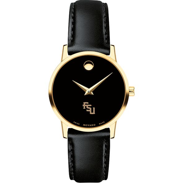 Florida State University Women's Movado Gold Museum Classic Leather - Image 2