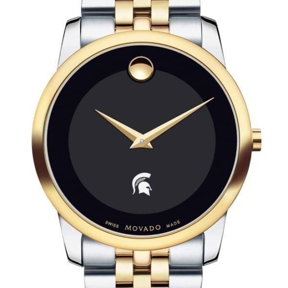 Michigan State Men's Movado Two-Tone Museum Classic Bracelet