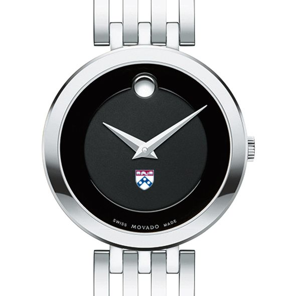 University of Pennsylvania Women's Movado Esparanza Stainless Steel Museum with Bracelet