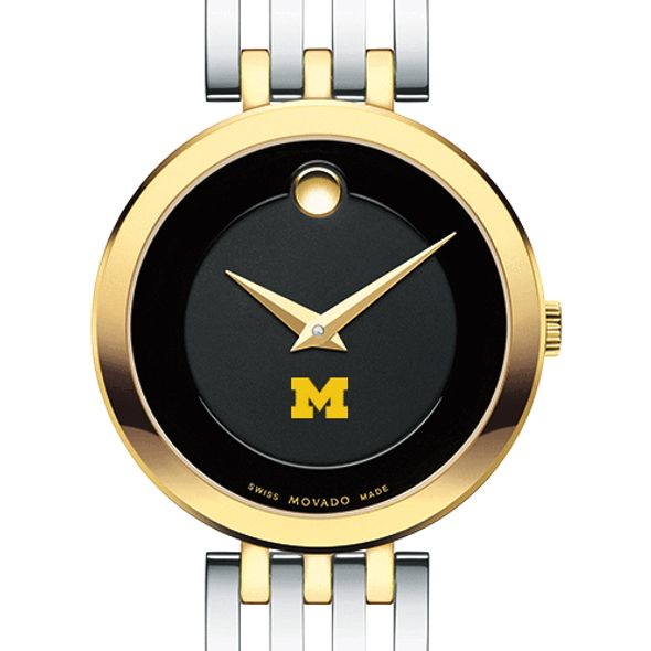 University of Michigan Women's Movado Esparanza Two-Tone Museum with Bracelet