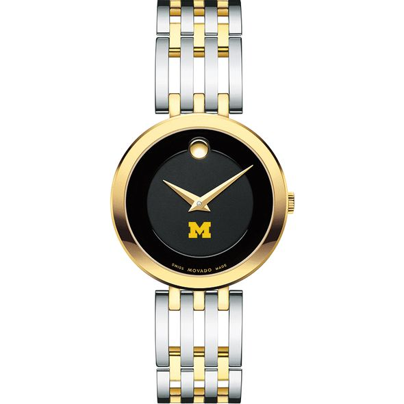 University of Michigan Women's Movado Esparanza Two-Tone Museum with Bracelet - Image 2