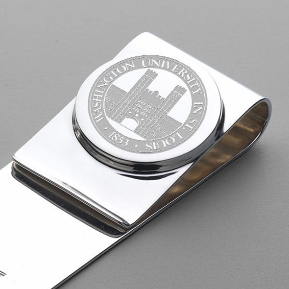 WashU Sterling Silver Money Clip - Image 2