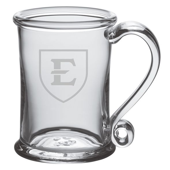 East Tennessee State University Glass Tankard by Simon Pearce