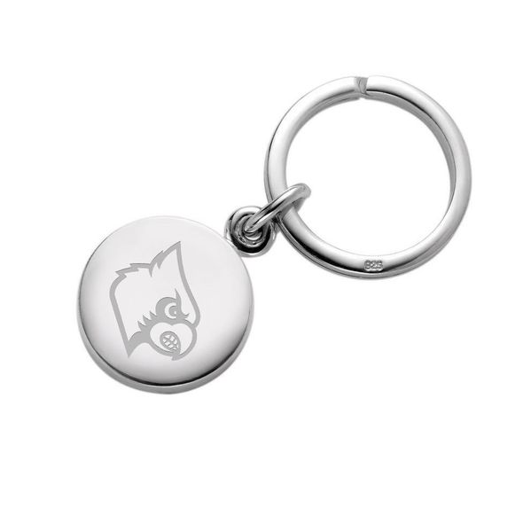 University of Louisville Sterling Silver Insignia Key Ring - Image 1