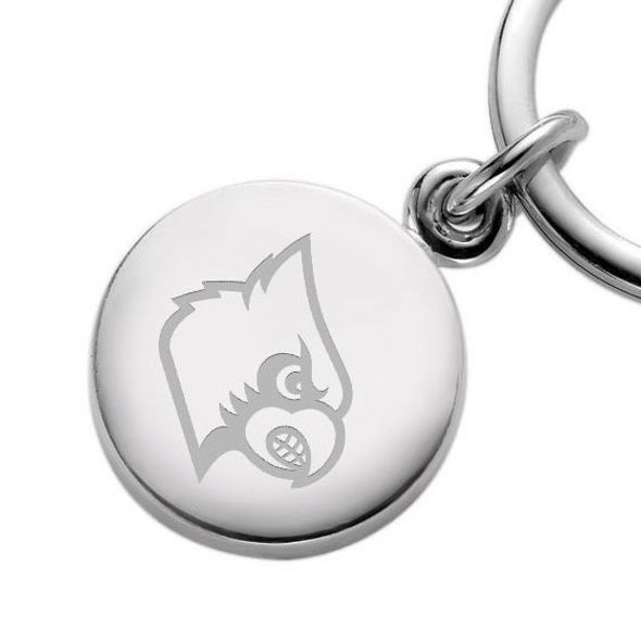 University of Louisville Sterling Silver Insignia Key Ring - Image 2