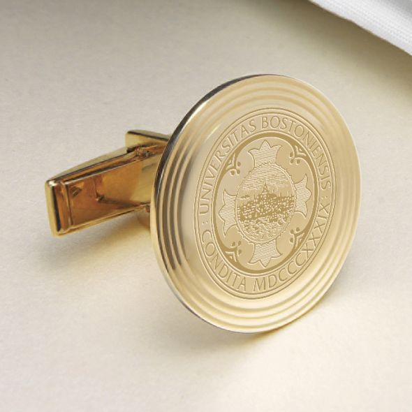 Boston University 18K Gold Cufflinks - Image 2