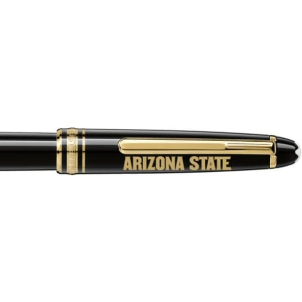 Arizona State Montblanc Meisterstück Classique Rollerball Pen in Gold - Image 2