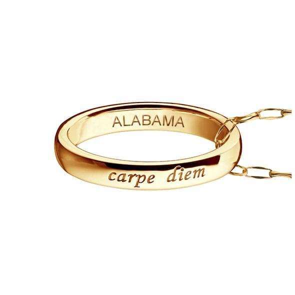 "Alabama Monica Rich Kosann ""Carpe Diem"" Poesy Ring Necklace in Gold - Image 3"