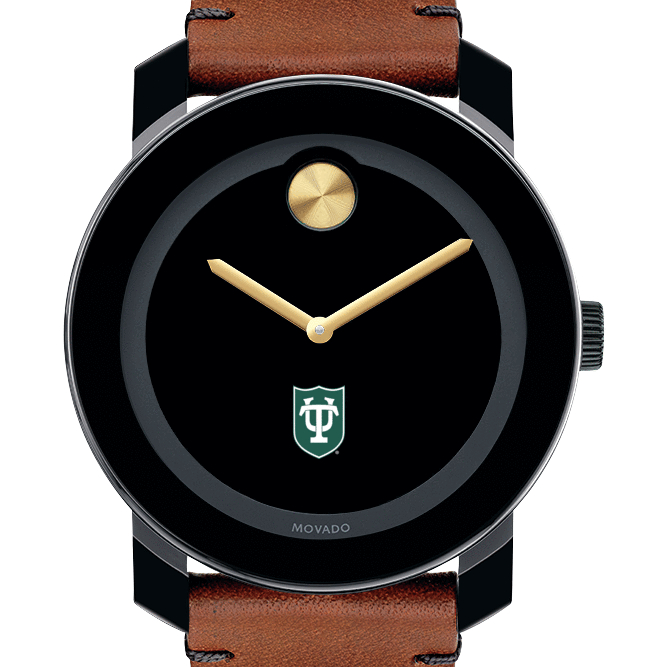 Tulane University Men's Movado BOLD with Brown Leather Strap