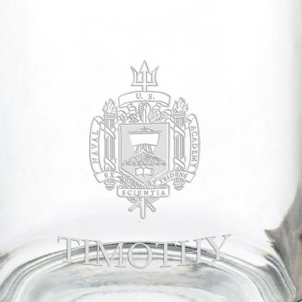 US Naval Academy 13 oz Glass Coffee Mug - Image 3