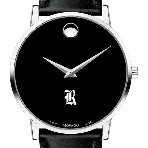 Rice University Men's Movado Museum with Leather Strap