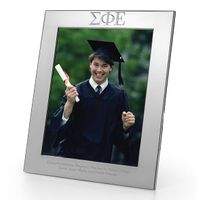 Sigma Phi Epsilon Polished Pewter 8x10 Picture Frame
