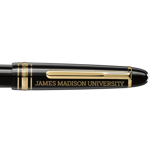 James Madison University Montblanc Meisterstück Classique Fountain Pen in Gold - Image 2