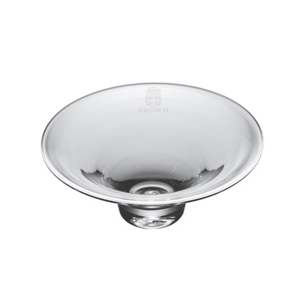Brown Glass Hanover Bowl by Simon Pearce