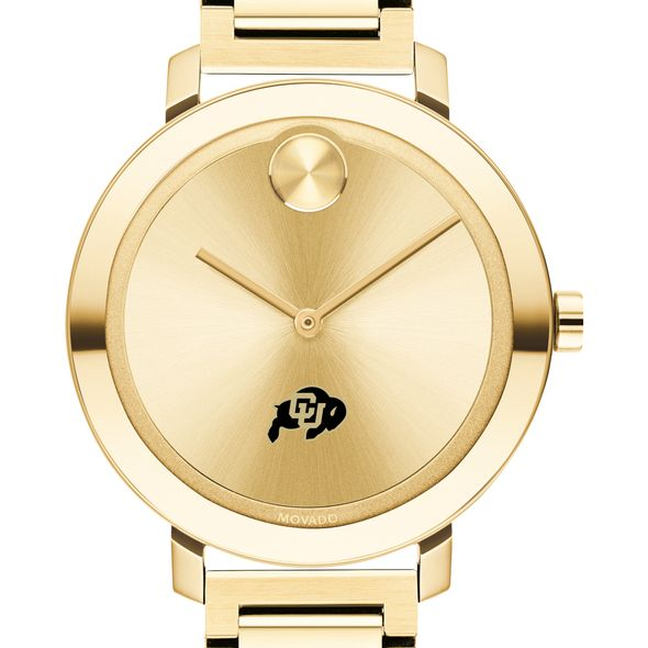 University of Colorado Women's Movado Gold Bold 34 - Image 1