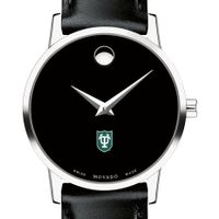 Tulane University Women's Movado Museum with Leather Strap