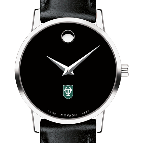 Tulane Women's Movado Museum with Leather Strap