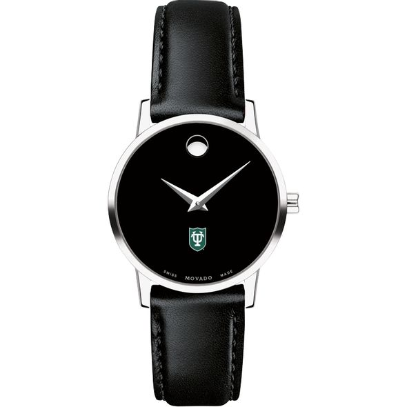 Tulane University Women's Movado Museum with Leather Strap - Image 2