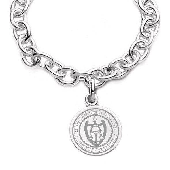 Georgia Tech Sterling Silver Charm Bracelet - Image 2