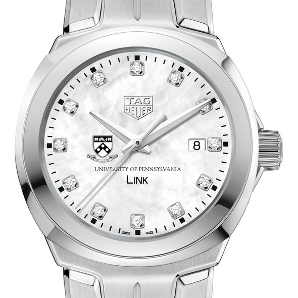 University of Pennsylvania TAG Heuer Diamond Dial LINK for Women