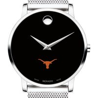 University of Texas Men's Movado Museum with Mesh Bracelet
