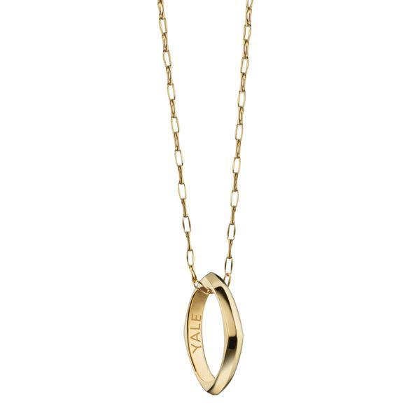 Yale University Monica Rich Kosann Poesy Ring Necklace in Gold - Image 2