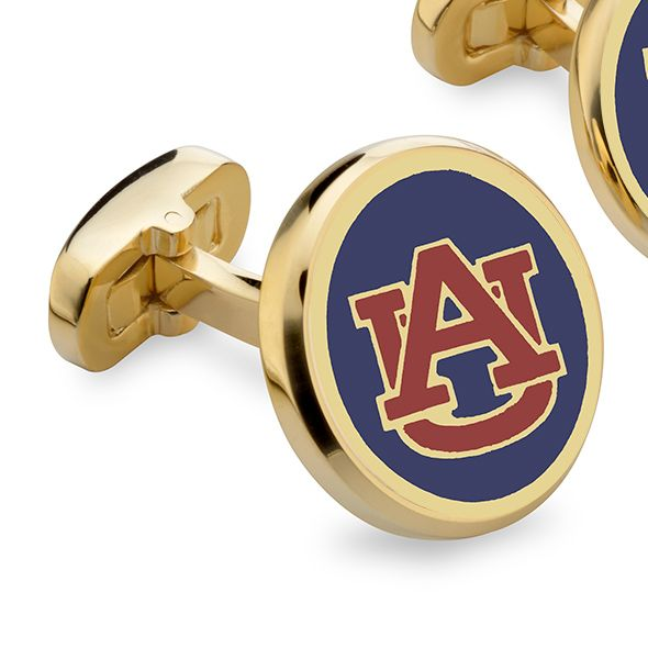 Auburn Enamel Cufflinks - Image 2
