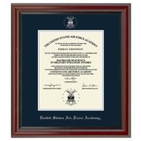 US Air Force Academy Diploma Frame, the Fidelitas