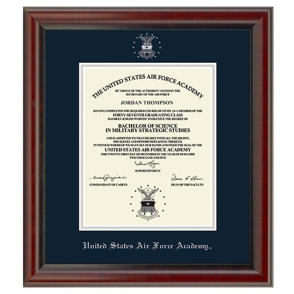 Official US Air Force Academy Diploma Frame, the Fidelitas ...