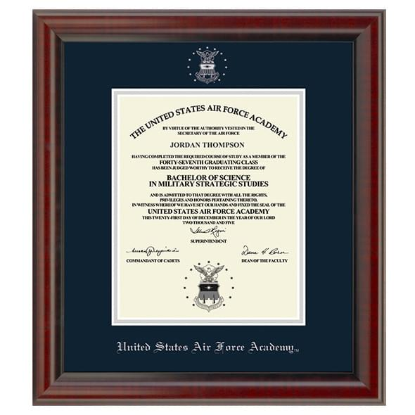 US Air Force Academy Diploma Frame, the Fidelitas - Image 1