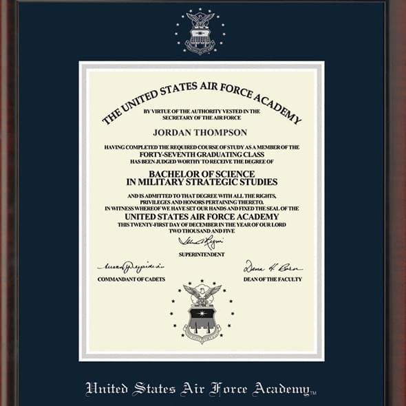 US Air Force Academy Diploma Frame, the Fidelitas - Image 2