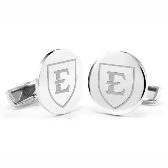 East Tennessee State University Cufflinks in Sterling Silver