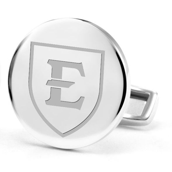 East Tennessee State University Cufflinks in Sterling Silver - Image 2