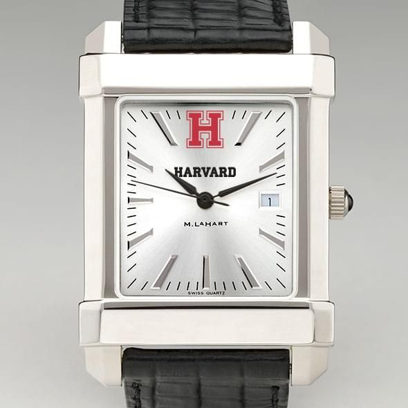 Harvard Men's Collegiate Watch with Leather Strap