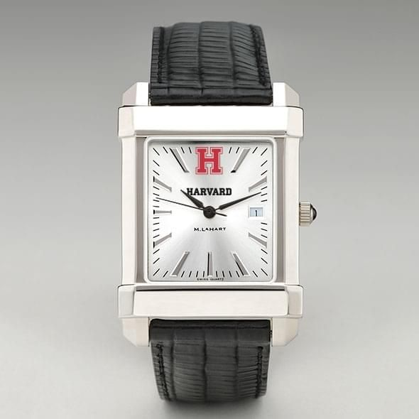 Harvard Men's Collegiate Watch with Leather Strap - Image 2