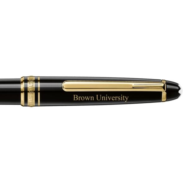 Brown University Montblanc Meisterstück Classique Ballpoint Pen in Gold - Image 2