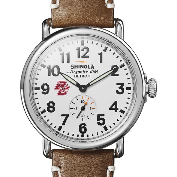 Boston College Shinola Watch, The Runwell 41mm White Dial