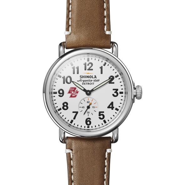 Boston College Shinola Watch, The Runwell 41mm White Dial - Image 2