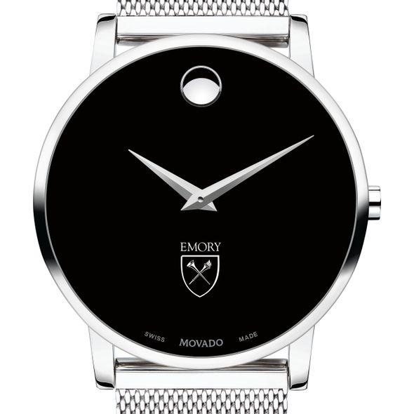 Emory University Men's Movado Museum with Mesh Bracelet
