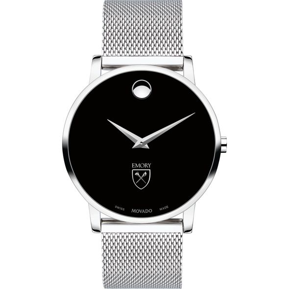 Emory University Men's Movado Museum with Mesh Bracelet - Image 2
