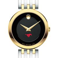 Southern Methodist University Women's Movado Esparanza Two-Tone Museum with Bracelet