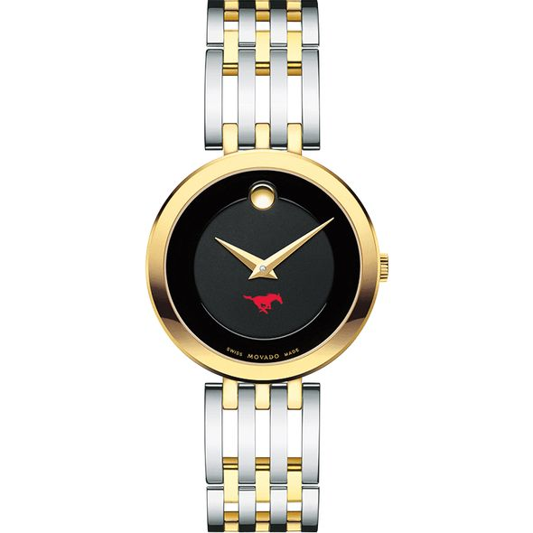 Southern Methodist University Women's Movado Esparanza Two-Tone Museum with Bracelet - Image 2