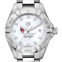 BU Women's TAG Heuer Steel Aquaracer with MOP Diamond Dial