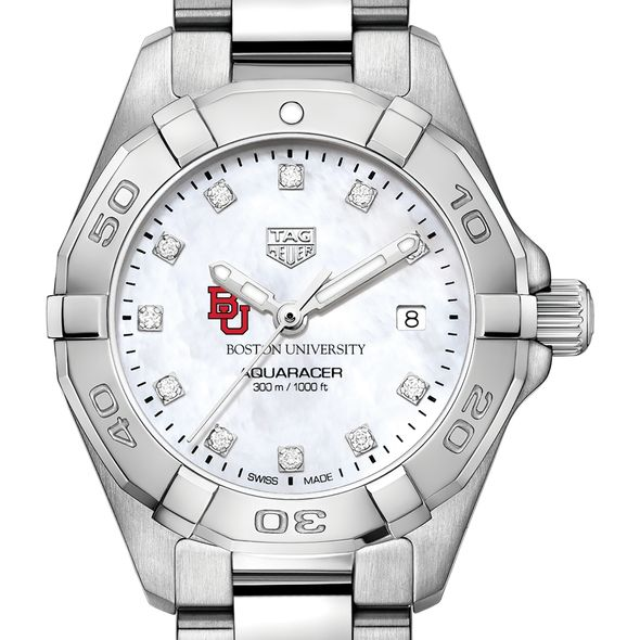 BU Women's TAG Heuer Steel Aquaracer with MOP Diamond Dial - Image 1