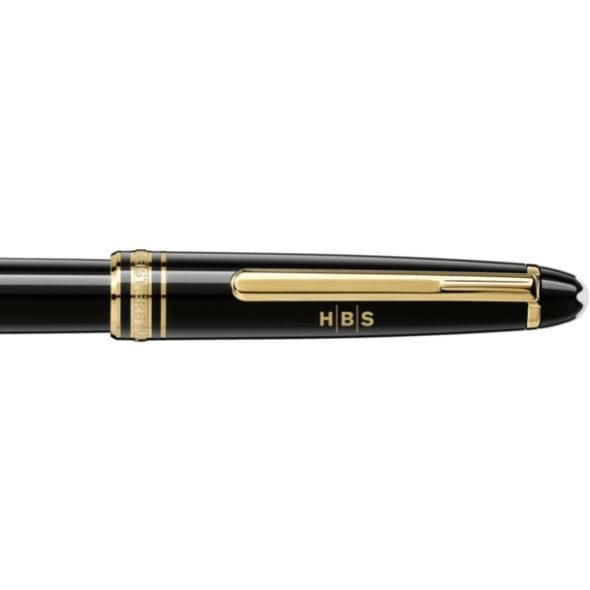 Harvard Business School Montblanc Meisterstück Classique Rollerball Pen in Gold - Image 2
