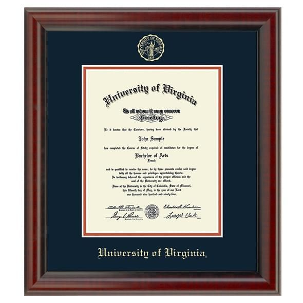 Official University Of Virginia Diploma Frame The Fidelitas