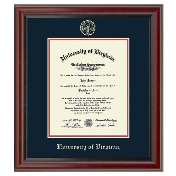 Official University of Virginia Diploma Frame, the Fidelitas ...