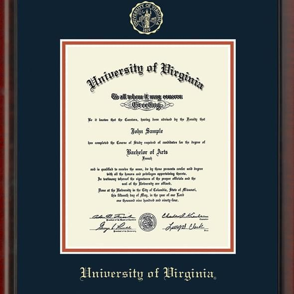 University of Virginia Diploma Frame, the Fidelitas - Image 2