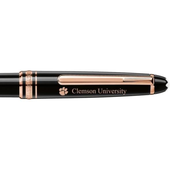Clemson Montblanc Meisterstück Classique Ballpoint Pen in Red Gold - Image 2